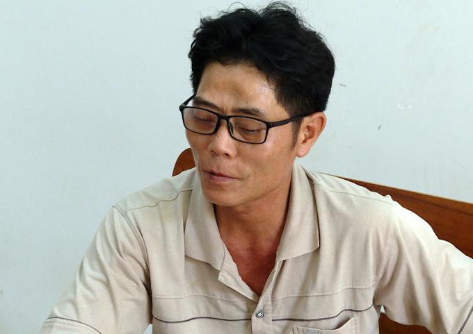 Phạm Văn Dũng tại Công an tỉnh Bà Rịa - Vũng Tàu. Ảnh: Quang Bình.