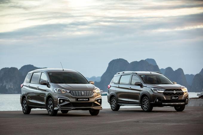 Suzuki XL7 và Ertiga lọt top những mẫu xe 7 chỗ ăn khách tại Việt Nam.