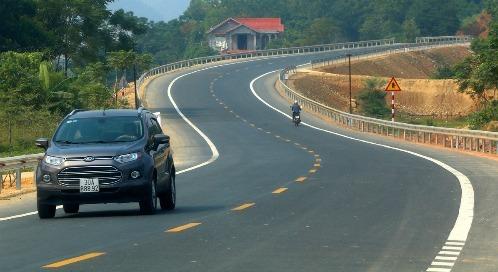 Cao tốc Hòa Bình - Sơn La sẽ kết nối với đường Hòa Lạc - Hòa Bình hiện nay. Ảnh: Bá Đô