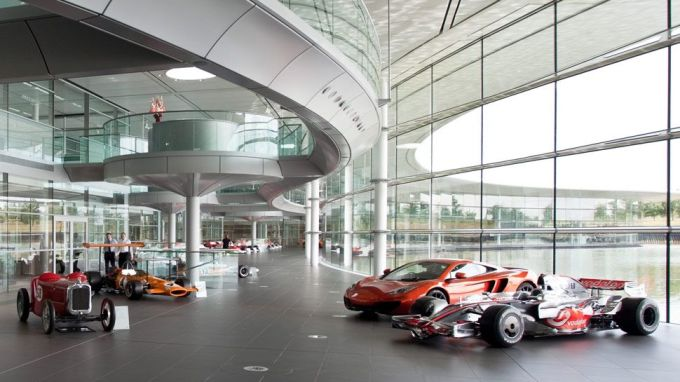 Không gian trưng bày tại trụ sở của McLaren ở Woking. Ảnh: McLaren