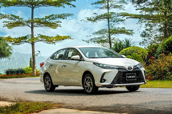 Toyota Vios phiên bản nâng cấp facelift 2021.