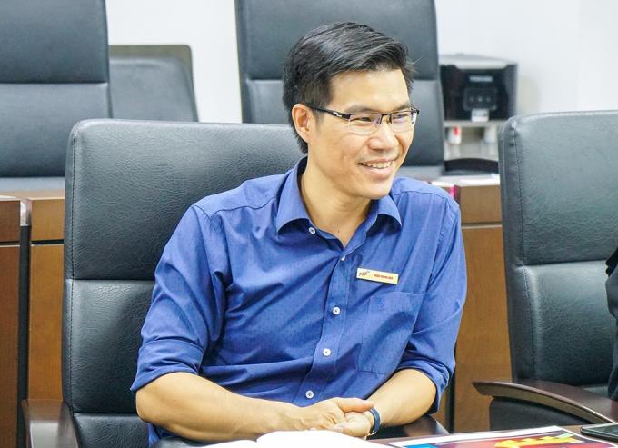 Ông Trần Trọng Đạo trong một sự kiện tại trường tháng 12/2018. Ảnh: Đại học Tôn Đức Thắng.