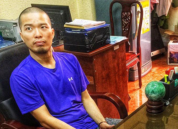 Nguyễn Minh Đạt lúc bị công an triệt phát năm 2018. Ảnh: Công an cung cấp.