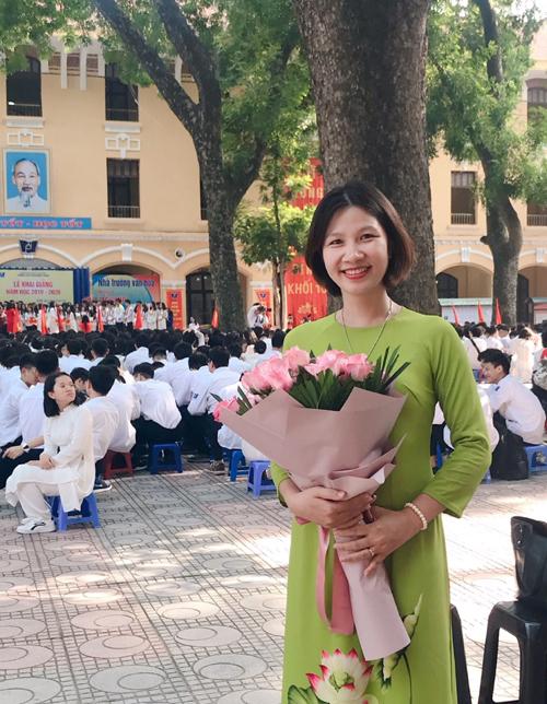 Cô Hạnh dạy môn tiếng Anh tại trường THPT Phan Đình Phùng, Hà Nội, từ năm 2004. Ảnh: NVCC.