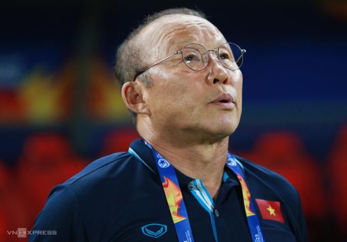 HLV Park nhiều khả năng vẫn sử dụng những cầu thủ quen thuộc với ông từ hơn hai năm qua cho những trận còn lại của vòng loại World Cup 2022. Ảnh: Lâm Thỏa.