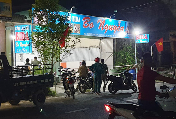 Hiện trường vụ án mạng trong đêm 4/5. Ảnh: Yên Khánh