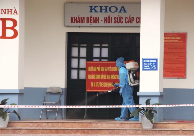 Bệnh viện Phổi Lạng Sơn được phong tỏa sáng ngày 6/5. Ảnh: Thành Triệu