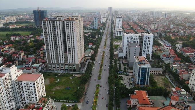 Khu vực trung tâm hành chính - chính trị tỉnh Bắc Ninh. Ảnh: Bá Đô