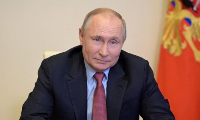 Putin trong một cuộc họp trực tuyến hôm 29/4. Ảnh: AFP.