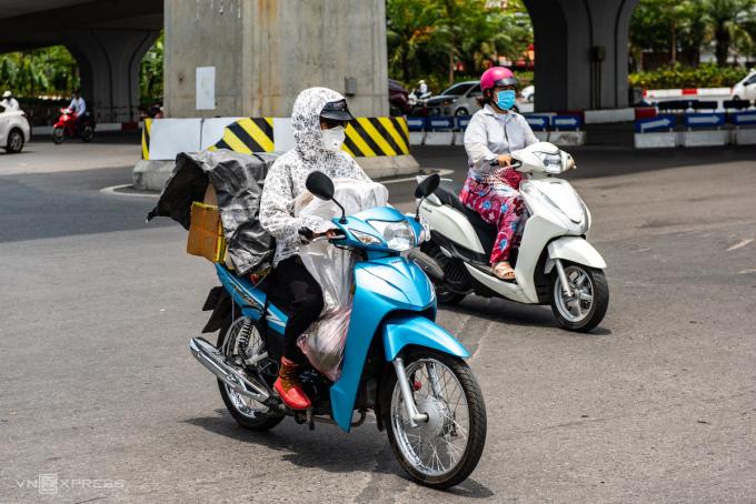Nắng nóng tháng 6/2020 ở Hà Nội. Ảnh: CTV