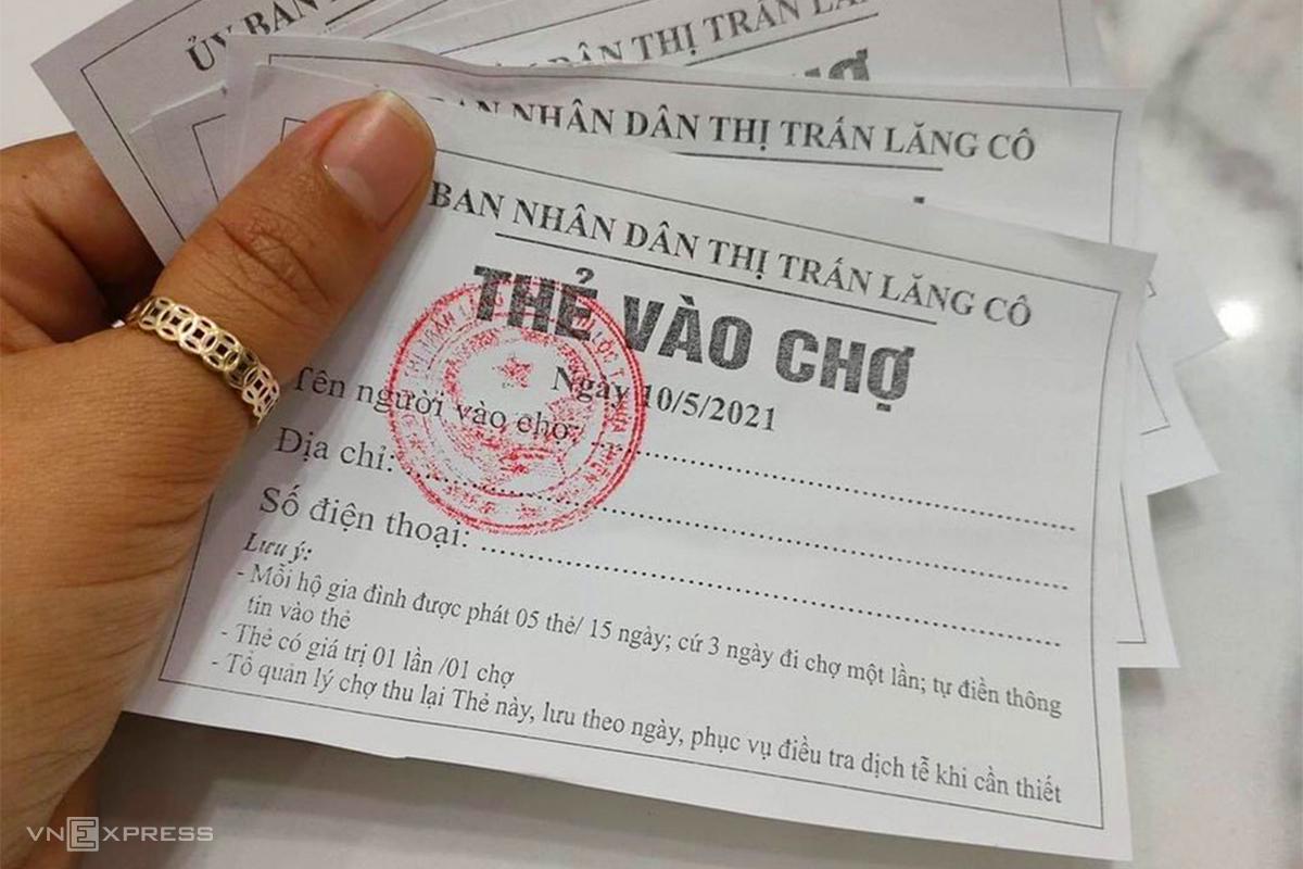 Thừa Thiên Huế lần đầu áp dụng đi chợ bằng tem phiếu