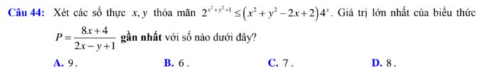 Hàm số mũ - logarit và các câu đại số lớp 11 trong đề tốt nghiệp - 2