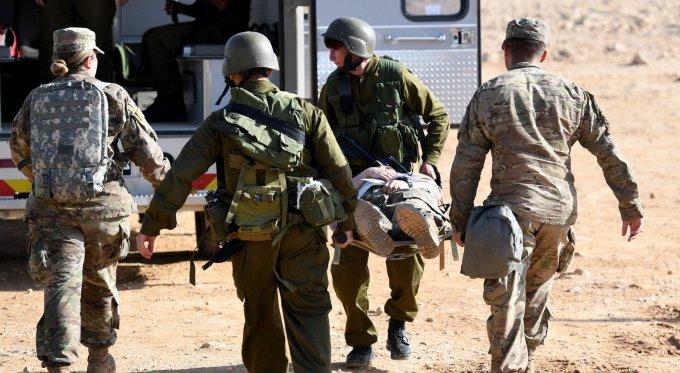Lính Mỹ và Israel diễn tập cứu thương năm 2018. Ảnh: US Army.