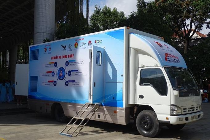 Chuyến xe công nghệ sẽ mang nhiều hoạt động trải nhiệm, chuyển giao kỹ thuật cho người dân địa phương. Ảnh: Hà An.