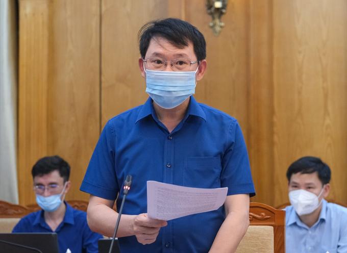 Ông Lê Ánh Dương, Chủ tịch UBND tỉnh Bắc Giang. Ảnh: MOH