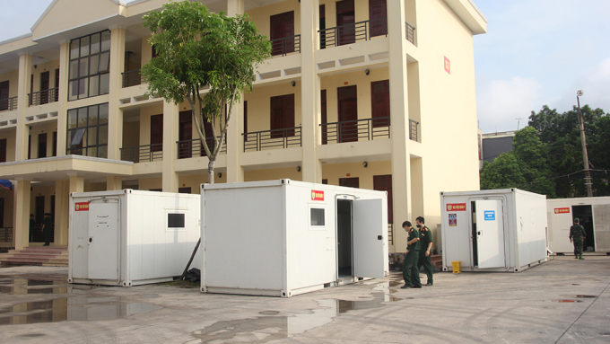 Trung tâm xét nghiệm dã chiến tại TP Bắc Giang. Ảnh: Báo Bắc Giang