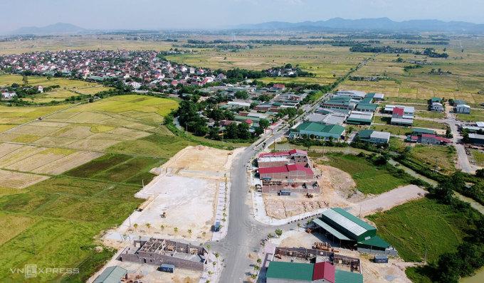 Xã Thanh Bình Thịnh (huyện Đức Thọ) điểm cuối của cao tốc Diễn Châu - Bãi Vọt. Ảnh: Đức Hùng