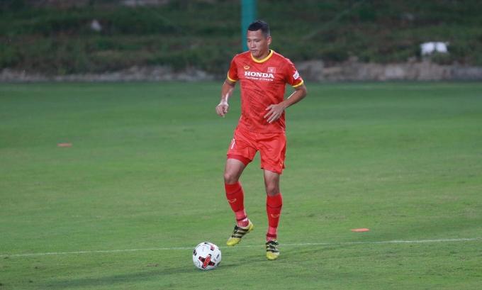 Tiền đạo Nguyễn Anh Đức sẽ không được đồng hành cùng đội tuyển ở những trận còn lại của vòng loại World Cup. Ảnh: Lâm Thoả.