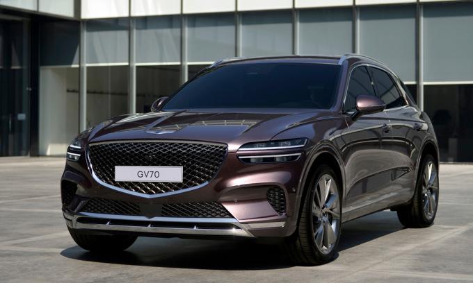 SUV hạng sang Hàn Quốc GV70 2022 bán ra tại Mỹ với 7 phiên bản. Ảnh: Genesis