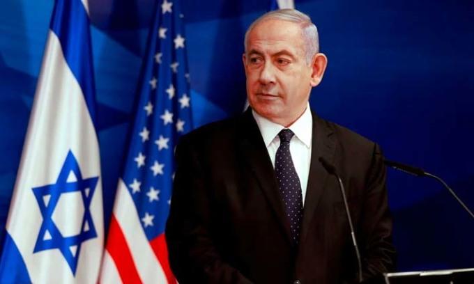 Thủ tướng Israel Benjamin Netanyahu tại buổi họp báo ở Jerusalem hôm nay. Ảnh: AFP.
