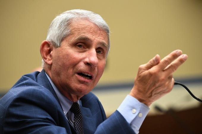 Tiến sĩ Anthony Fauci, Viện trưởng Viện Dị ứng và Bệnh truyền nhiễm Quốc gia Mỹ, hồi tháng 7/2020. Ảnh: AFP