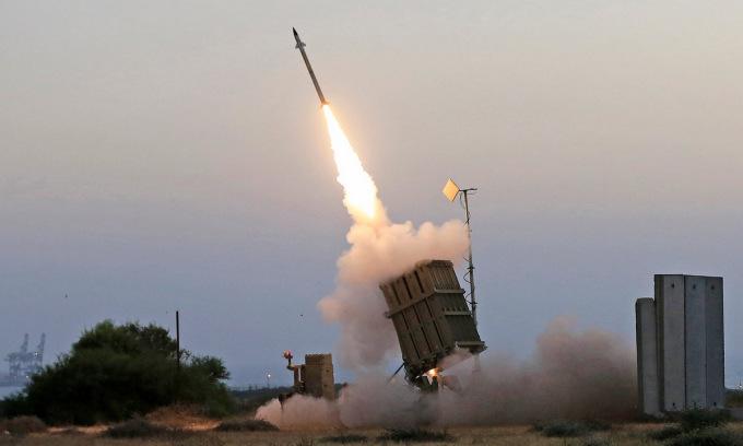 Hệ thống Iron Dome khai hỏa trong xung đột 11 ngày với Hamas. Ảnh: IDF.