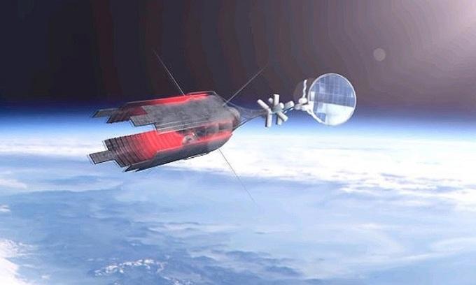 Thiết kế của tàu kéo vũ trụ. Ảnh: Roscosmos.