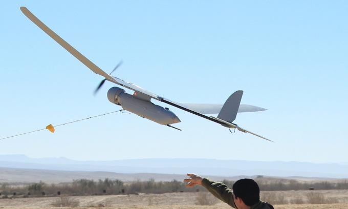 UAV Skylark cất cánh trong một cuộc diễn tập của Israel năm 2013. Ảnh: IDF.