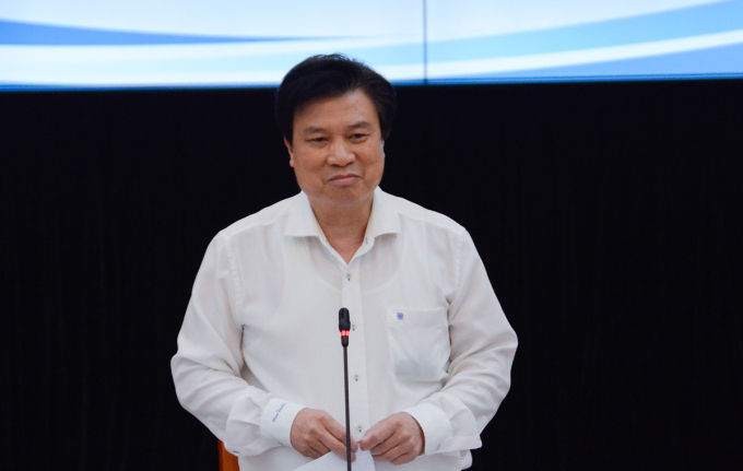 Thứ trưởng Giáo dục và Đào tạo Nguyễn Hữu Độ kết luận hội nghị thi tốt nghiệp THPT ngày 27/5. Ảnh: MOET.