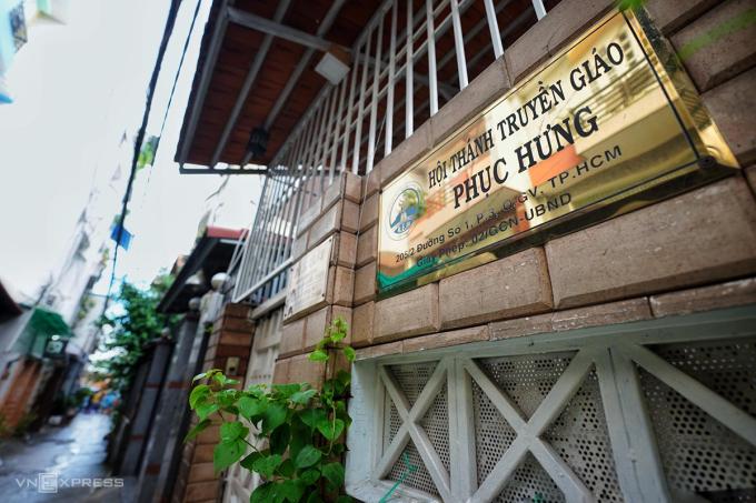 Trụ sở Hội thánh Truyền giáo Phục hưng ở đường Nguyễn Văn Công, phường 3, quận Gò Vấp. Ảnh: Hữu Khoa.