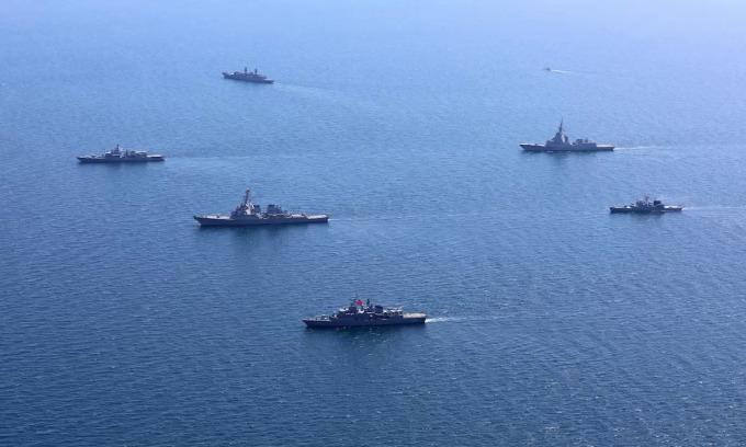 Tàu chiến Ukraine, NATO tham gia diễn tập Sea Breeze 2020. Ảnh: US Navy.