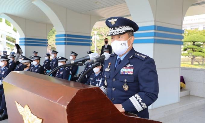 Tướng Không quân Hàn Quốc Lee Seong-yong tại một sự kiện hôm 31/5. Ảnh: Yonhap.