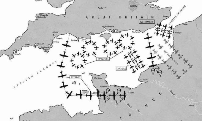 Các chiến dịch nghi binh của quân Đồng minh đêm 5/6/1944. Ảnh: USAF.