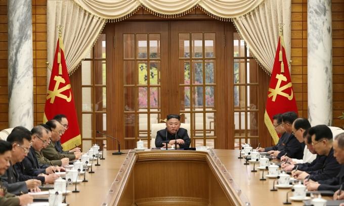 Ông Kim Jong-un trong cuộc họp ngày 4/6 tại Bình Nhưỡng. Ảnh: KCNA