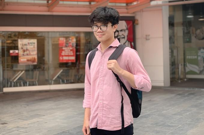 Hà Hải Dương, học sinh trường THPT chuyên Khoa học Tự nhiên, Đại học Khoa học Tự nhiên, Đại học Quốc gia Hà Nội. Ảnh: Nhân vật cung cấp