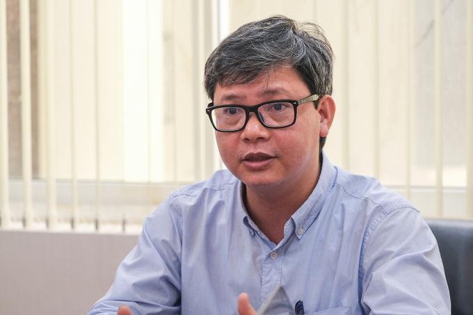 PGS Vũ Văn Tích chia sẻ về việc phát triển thị trường khoa học công nghệ. Ảnh: Dương Tâm.