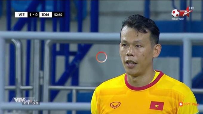 Lần hiếm hoi thủ môn Bùi Tấn Trường lên sóng.