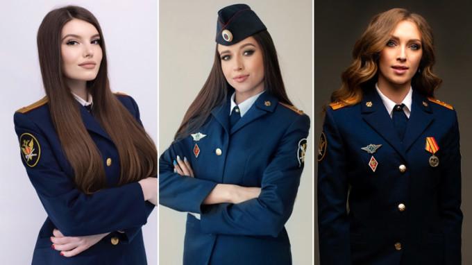 (Từ trái sang) Các thí sinh Darya Strogonova, Veronika Shved và Anastasia Okolelova. Ảnh: FSIN.
