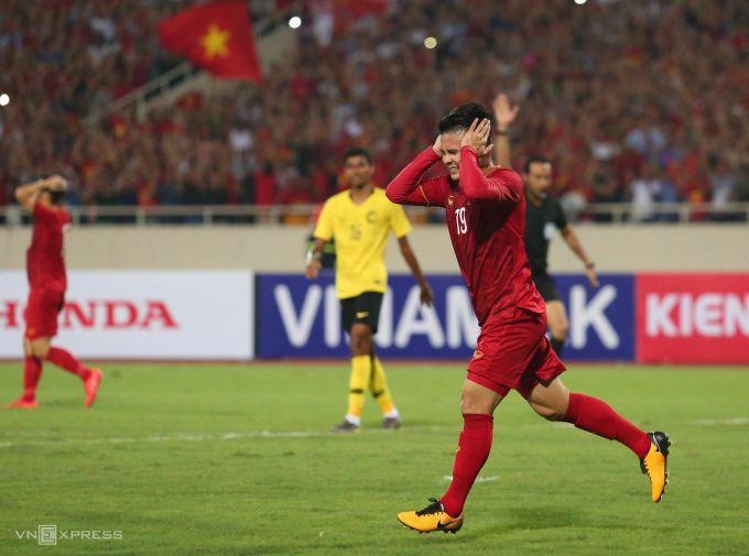 Sự vắng mặt của Quang Hải là một thiệt thòi cho tuyển Việt Nam khi đấu Malaysia ngày 11/6. Ảnh: