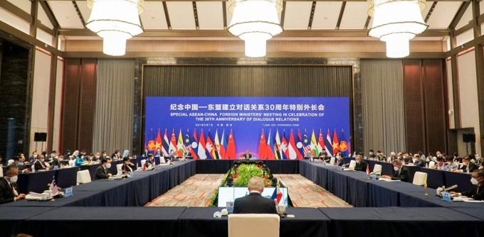 Hội nghị đặc biệt Bộ trưởng Ngoại giao ASEAN-Trung Quốc tại Trùng Khánh hôm 7/6. Ảnh: Bộ Ngoại giao.