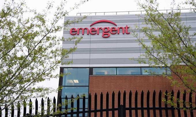 Cơ sở sản xuất của Emergent tại thành phố Baltimore BioSolutions thuộc bang Maryland, Mỹ. Ảnh: AFP.