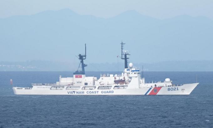 Tàu CSB 8021 ngoài khơi Seattle hồi cuối tháng 5. Ảnh: Marine Traffic.