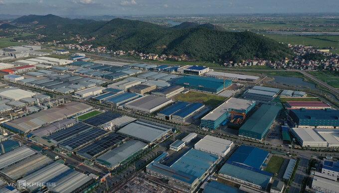 Khu công nghiệp Quang Châu, huyện Việt Yên, tỉnh Bắc Giang. Ảnh: Ngọc Thành