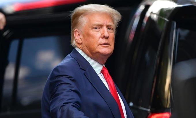 Cựu tổng thống Mỹ Donald Trump tại New York hồi tháng 3. Ảnh: GC.