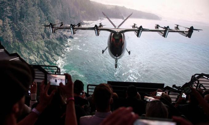 Taxi bay hai chỗ ngồi Maker có tốc độ tối đa 240 km/h. Ảnh: Archer Aviation.