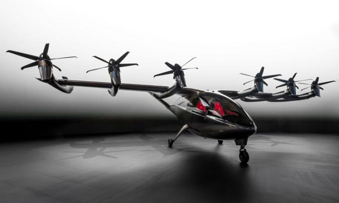 Taxi bay Maker giống phương tiện lai giữa trực thăng và máy bay thông thường. Ảnh: Archer Aviation.