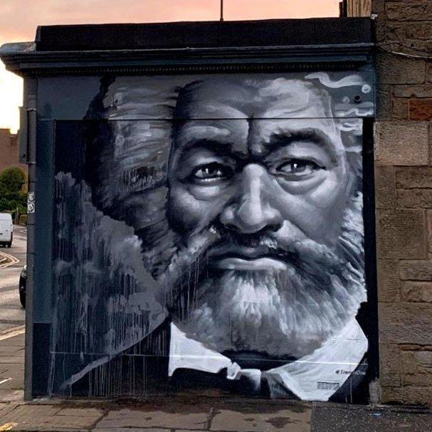 Bức ảnh tranh tường Frederick Douglass được Anh chọn để tặng Biden. Ảnh: Melissa Highton.