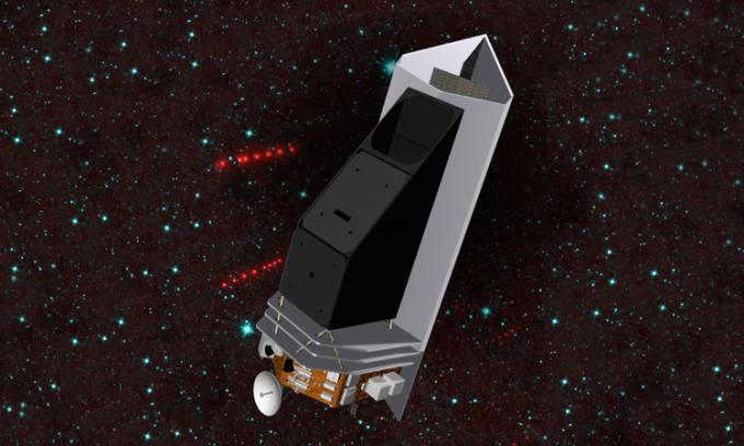 Minh họa kính viễn vọng không gian NEO Surveyor. Ảnh: NASA/JPL-Caltech.