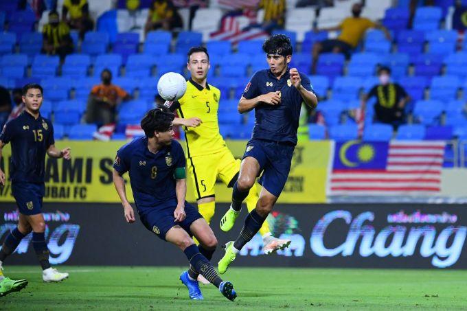Thất bại trước Malaysia khiến Thái Lan kết thúc hành trình vòng loại World Cup 2022 trong thất vọng. Ảnh: FAT