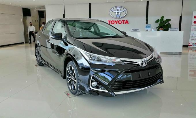 Corolla Altis phiên bản nâng cấp tại đại ý. Ảnh: Toyota